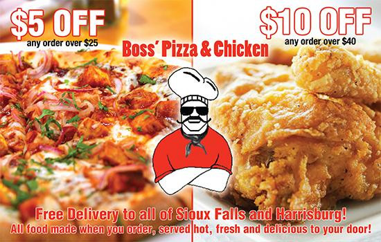 Boss Pizza And Chicken Sioux Falls  RSVP Sioux Falls