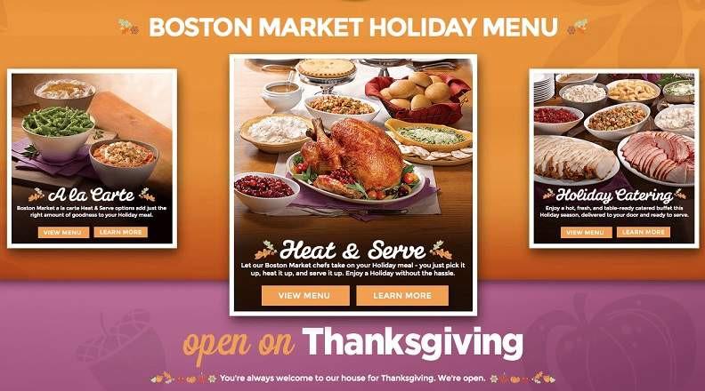 Boston Market Christmas Dinners  Boston Market Thanksgiving Dinner Menu 2015 Meal Hours
