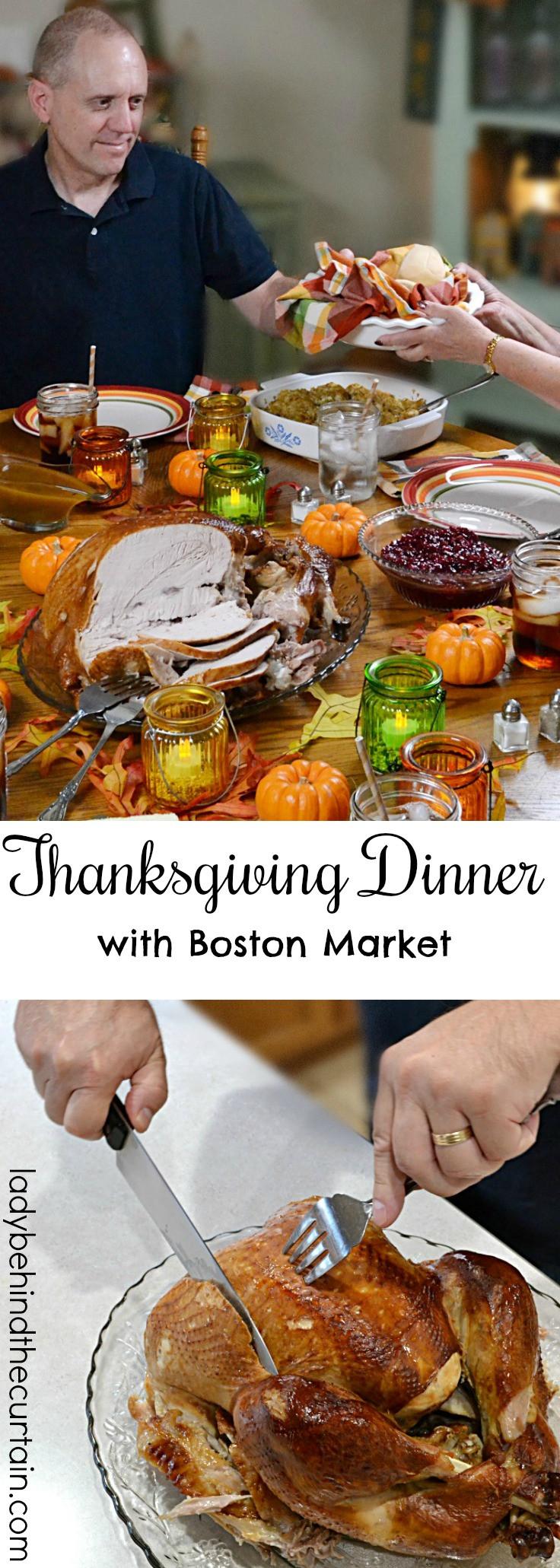 Boston Market Thanksgiving Turkey Dinner  Thanksgiving Dinner with Boston Market