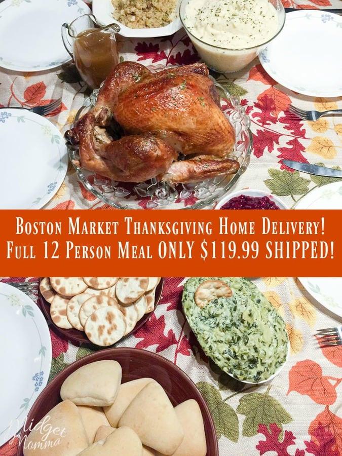 Boston Market Turkey Dinner Thanksgiving  Boston Market Thanksgiving Home Delivery Service