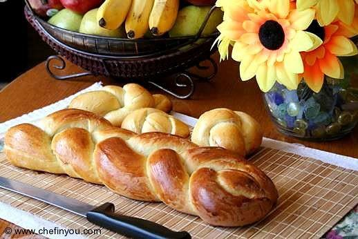 Braided Christmas Bread  Swiss Zopf Bread recipe