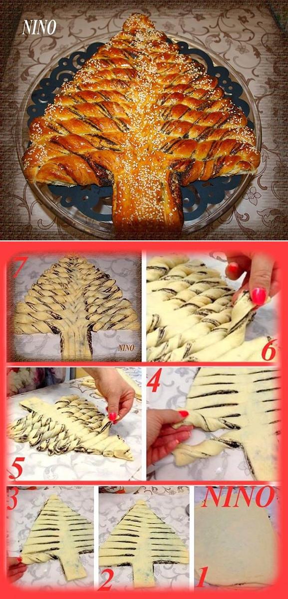 Braided Christmas Bread  Braided Nutella Christmas Tree Bread DIY Recipe AllDayChic