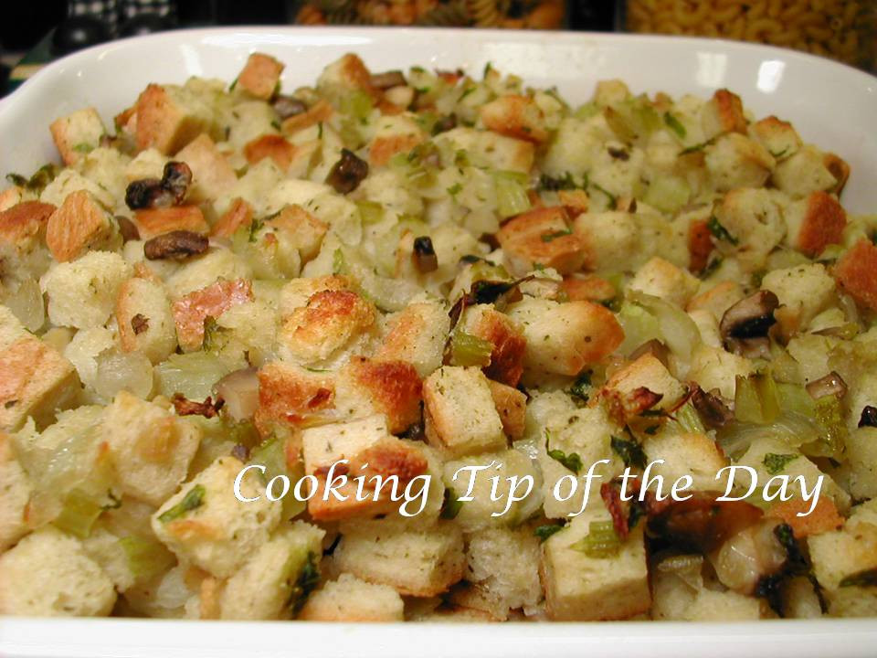 Bread Dressing For Thanksgiving  Cooking Tip of the Day Recipe Bread Stuffing