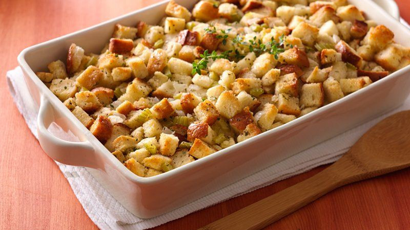 Bread Dressing For Thanksgiving  Bread Stuffing recipe from Betty Crocker
