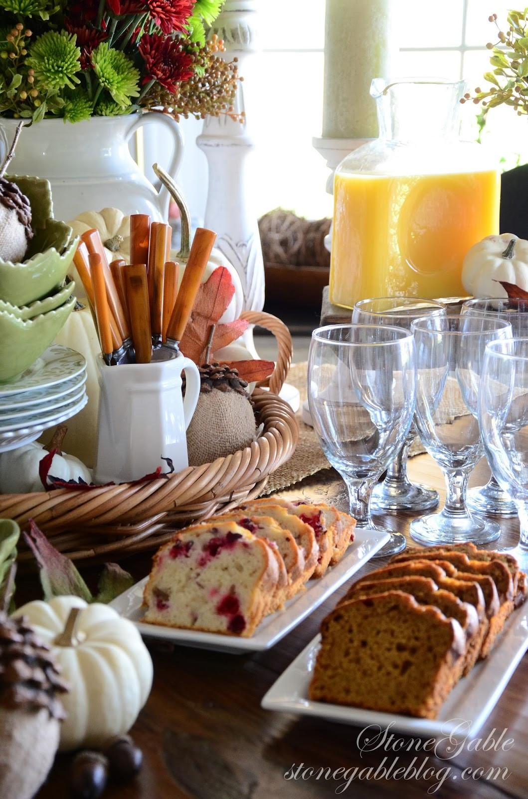 Breakfast On Thanksgiving Day  THANKSGIVING CONTINENTAL BREAKFAST VIGNETTE Interior