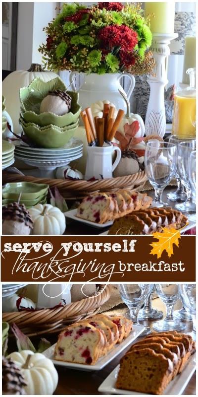 Breakfast Open On Thanksgiving  THANKSGIVING CONTINENTAL BREAKFAST VIGNETTE Interior