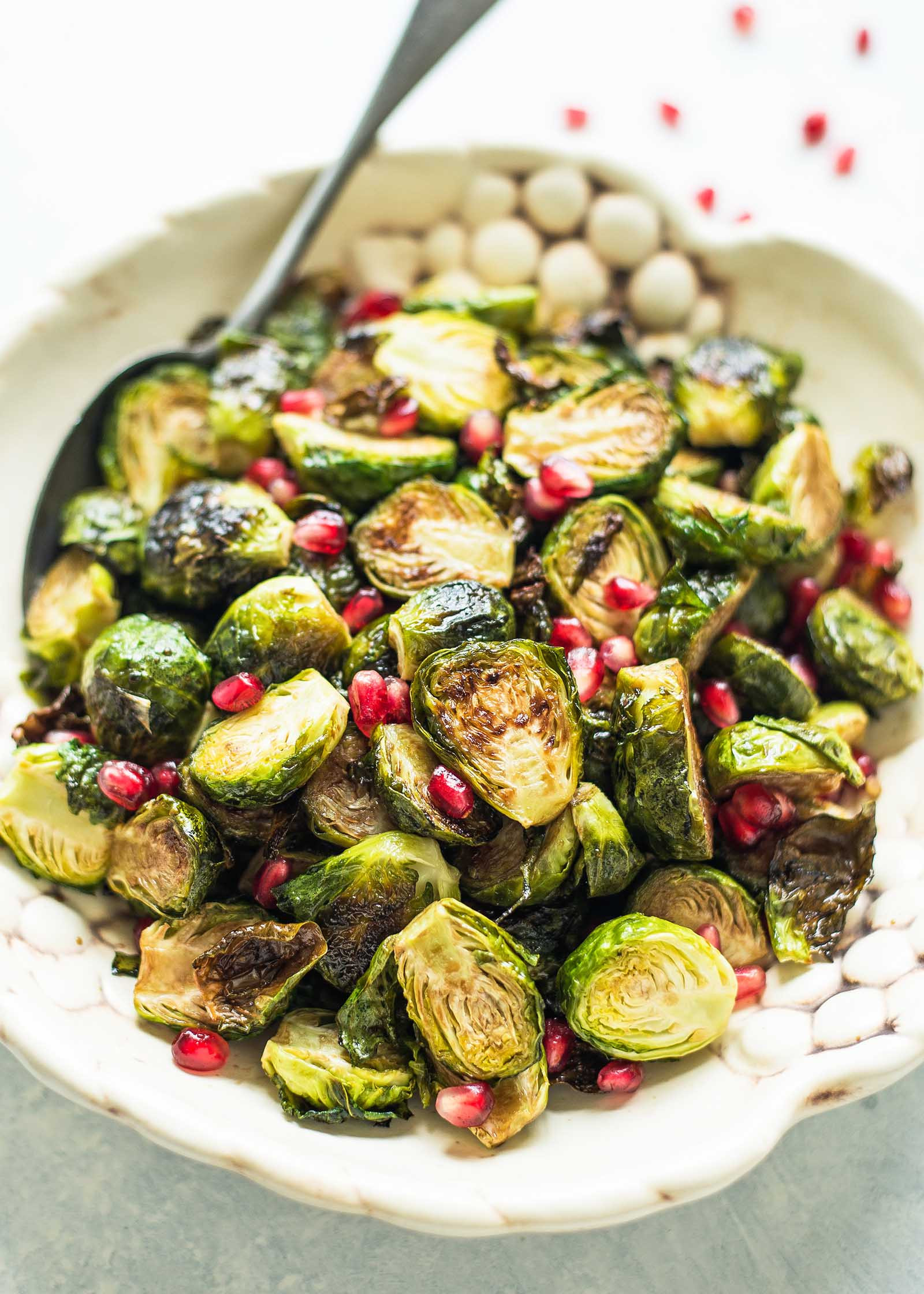 Brussels Sprouts Thanksgiving Side Dishes  Roasted Brussels Sprouts with Pomegranate Balsamic Glaze