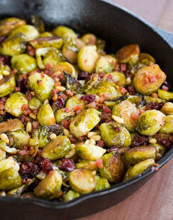 Brussels Sprouts Thanksgiving Side Dishes  Brussels Sprouts with Pancetta Cranberries & Pine Nuts