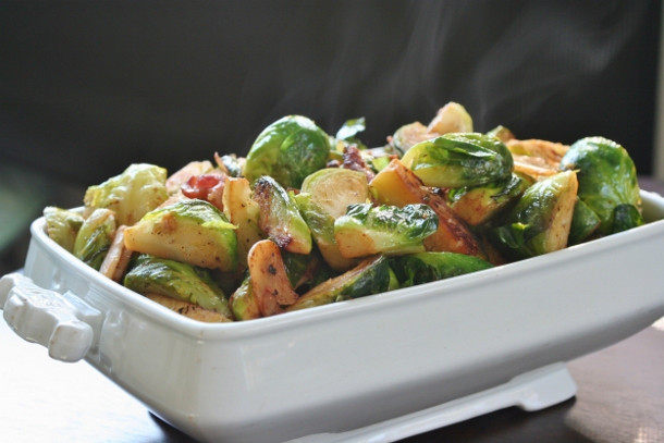 Brussels Sprouts Thanksgiving Side Dishes  Brussels Sprouts with Bacon Easy Do Ahead Side Dish for