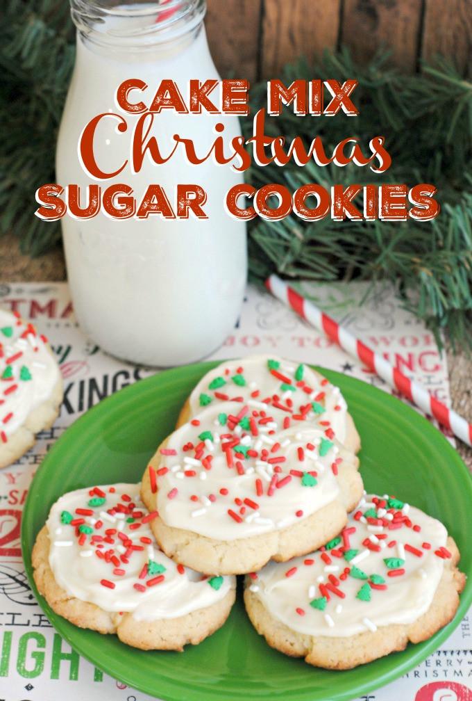 Cake Mix Christmas Cookies  Cake Mix Christmas Sugar Cookies Recipe