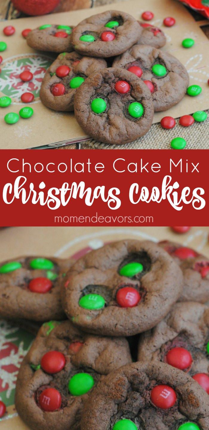 Cake Mix Christmas Cookies  Chocolate Cake Mix Christmas Cookies