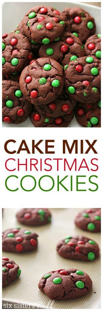 Cake Mix Christmas Cookies  Cake Mix Christmas Cookies