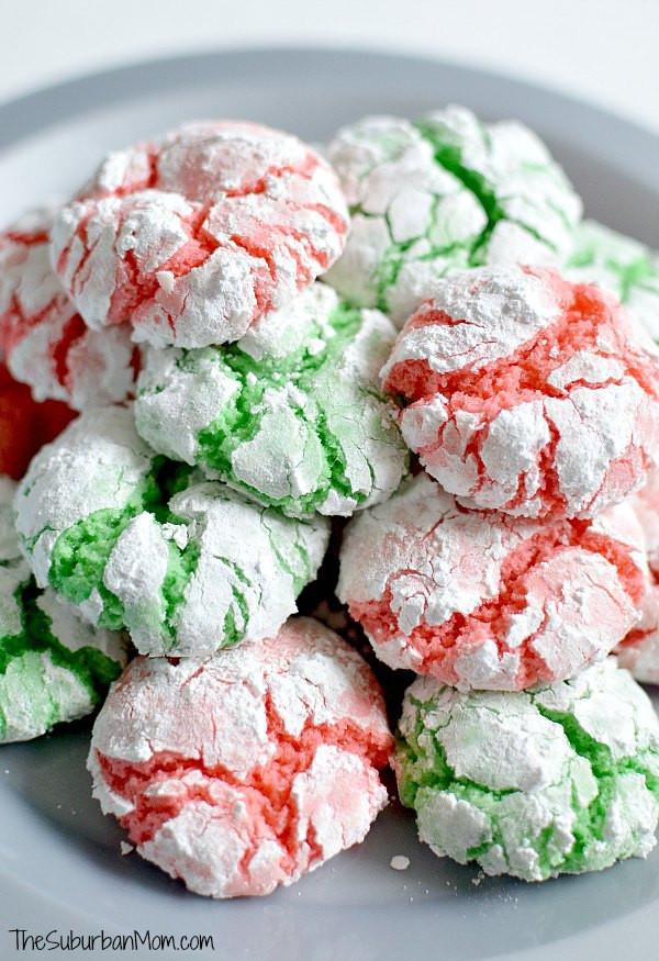 Cake Mix Christmas Cookies  Christmas Crinkle Cookies