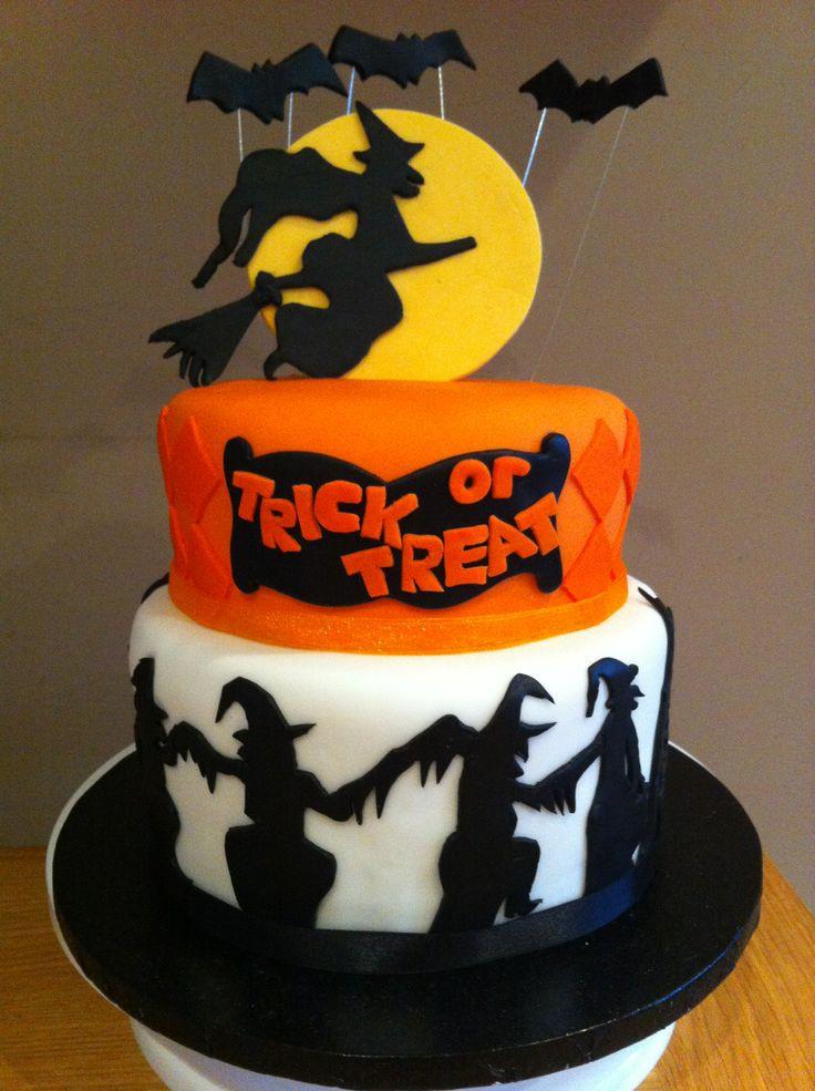Cakes For Halloween  2 tier Halloween cake My Cakes Pinterest