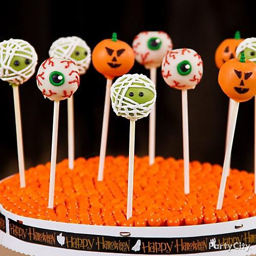 Cakes Pops Halloween  Friendly Monster Halloween Cake Pops Friendly Halloween
