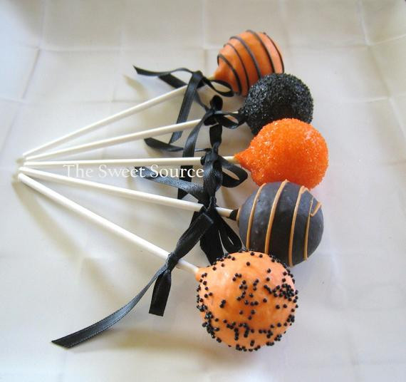 Cakes Pops Halloween  Items similar to Cake Pops Halloween Cake Pops Made to