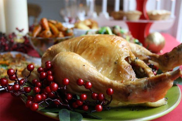 Calories In Thanksgiving Dinner  Cut calories healthy Christmas dinner swaps