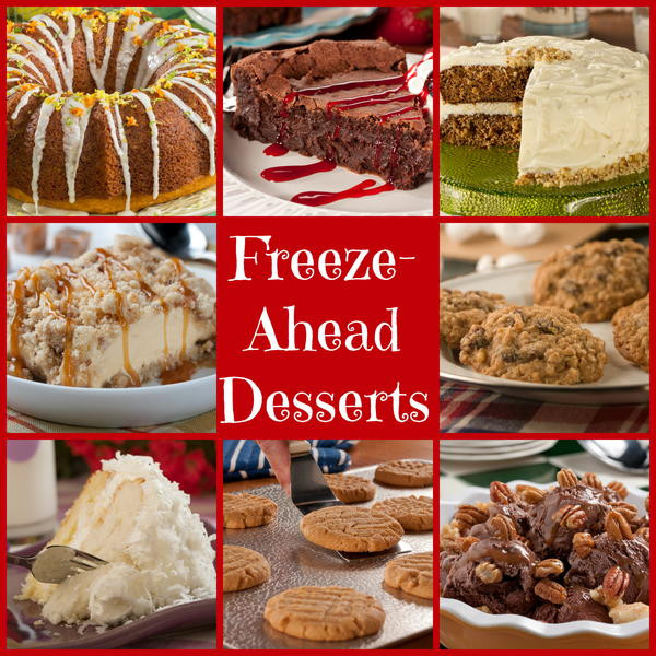 Can You Freeze Christmas Cookies  Freeze Ahead Desserts Make Ahead Holiday Desserts