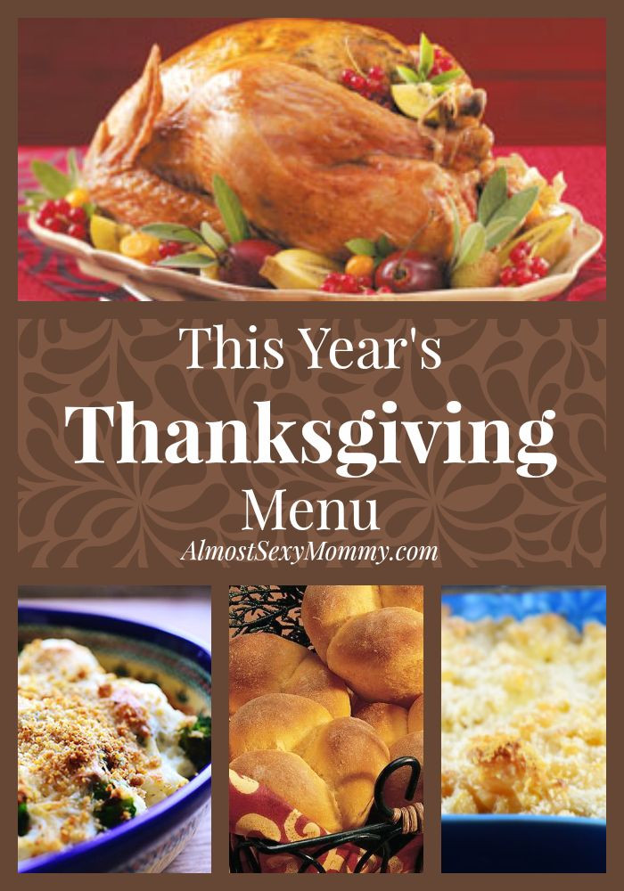 Canadian Thanksgiving Recipes  This Year s Thanksgiving Menu Almost y Mommy