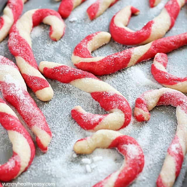 Candy Cane Christmas Cookies  Candy Cane Cookies Yummy Healthy Easy