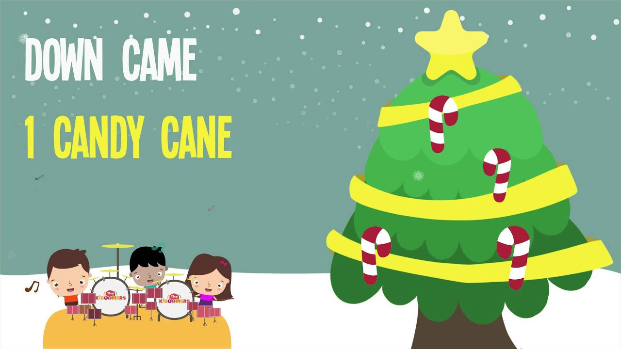 Candy Cane Christmas Lyrics  Five Candy Canes Kids Christmas Songs Lyrics