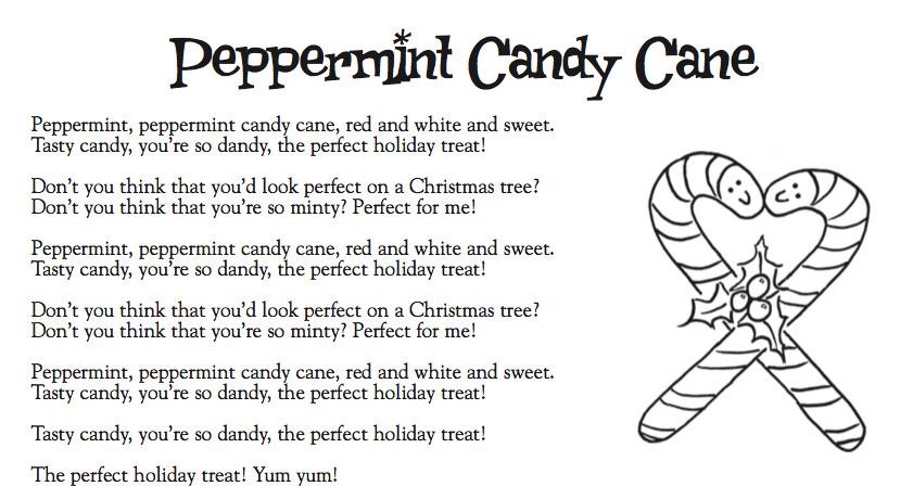 Candy Cane Christmas Lyrics  Cranston Music Kinder Lyrics