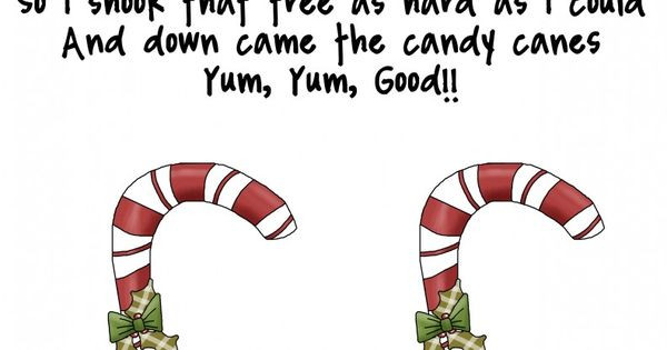 """Candy Cane Christmas Lyrics  Song """"Two Little Candy Canes"""" free from Me & Marie"""
