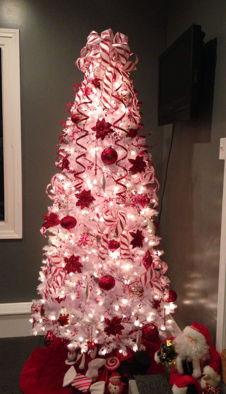 Candy Cane Christmas Tree Decorations  25 best ideas about Poinsettia Tree on Pinterest
