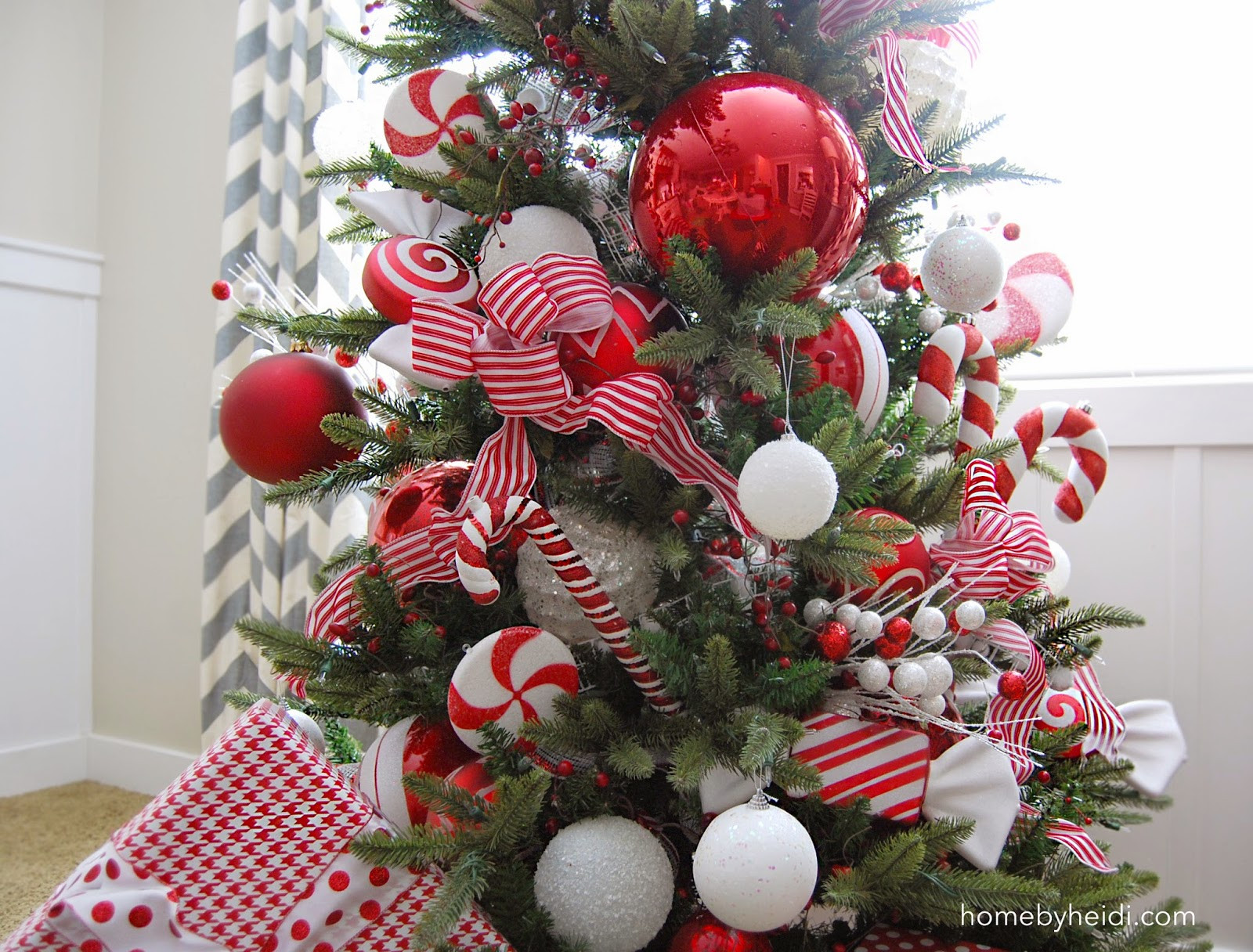 Candy Cane Christmas Tree Decorations  Home By Heidi Candy Cane Christmas Tree