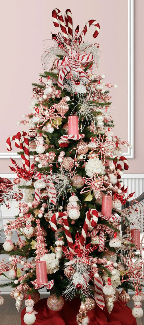 Candy Cane Christmas Tree Decorations  Christmas Tree Candy Cane tis the season