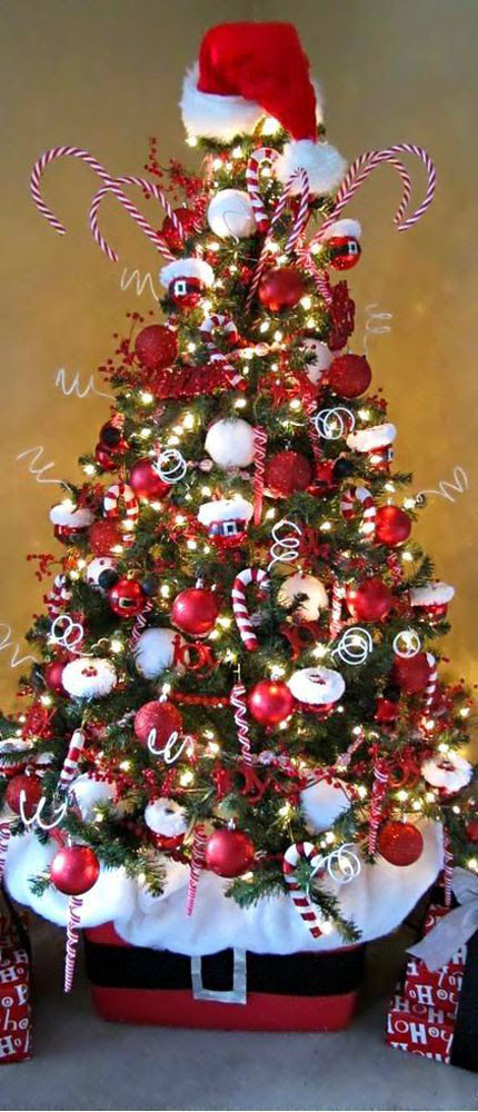 Candy Cane Christmas Tree Decorations  Most Pinteresting Christmas Trees on Pinterest Christmas