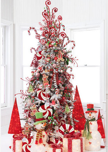 Candy Cane Christmas Tree Decorations  Christmas Decoration Candy cane theme Interior