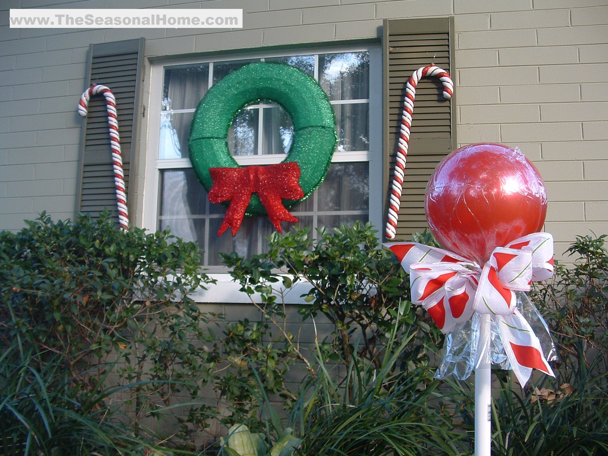 """Candy Cane Outdoor Christmas Decorations  Outdoor """"CANDY"""" A Christmas Decorating Idea The"""