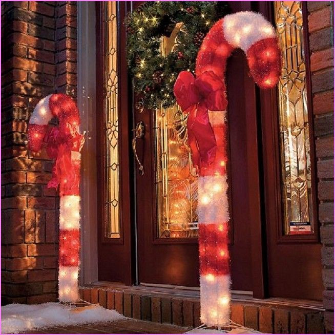 Candy Cane Outdoor Christmas Decorations  Outdoor Candy Cane Decorations