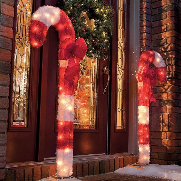 Candy Cane Outdoor Christmas Decorations  Outdoor Christmas Decor Ideas