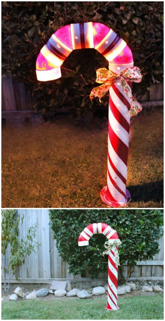 Candy Cane Outdoor Christmas Decorations  20 Impossibly Creative DIY Outdoor Christmas Decorations