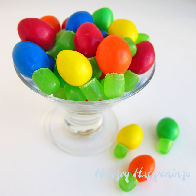 Candy Christmas Lights  M&M s and Mike and Ike Candy Christmas Lights Quick and