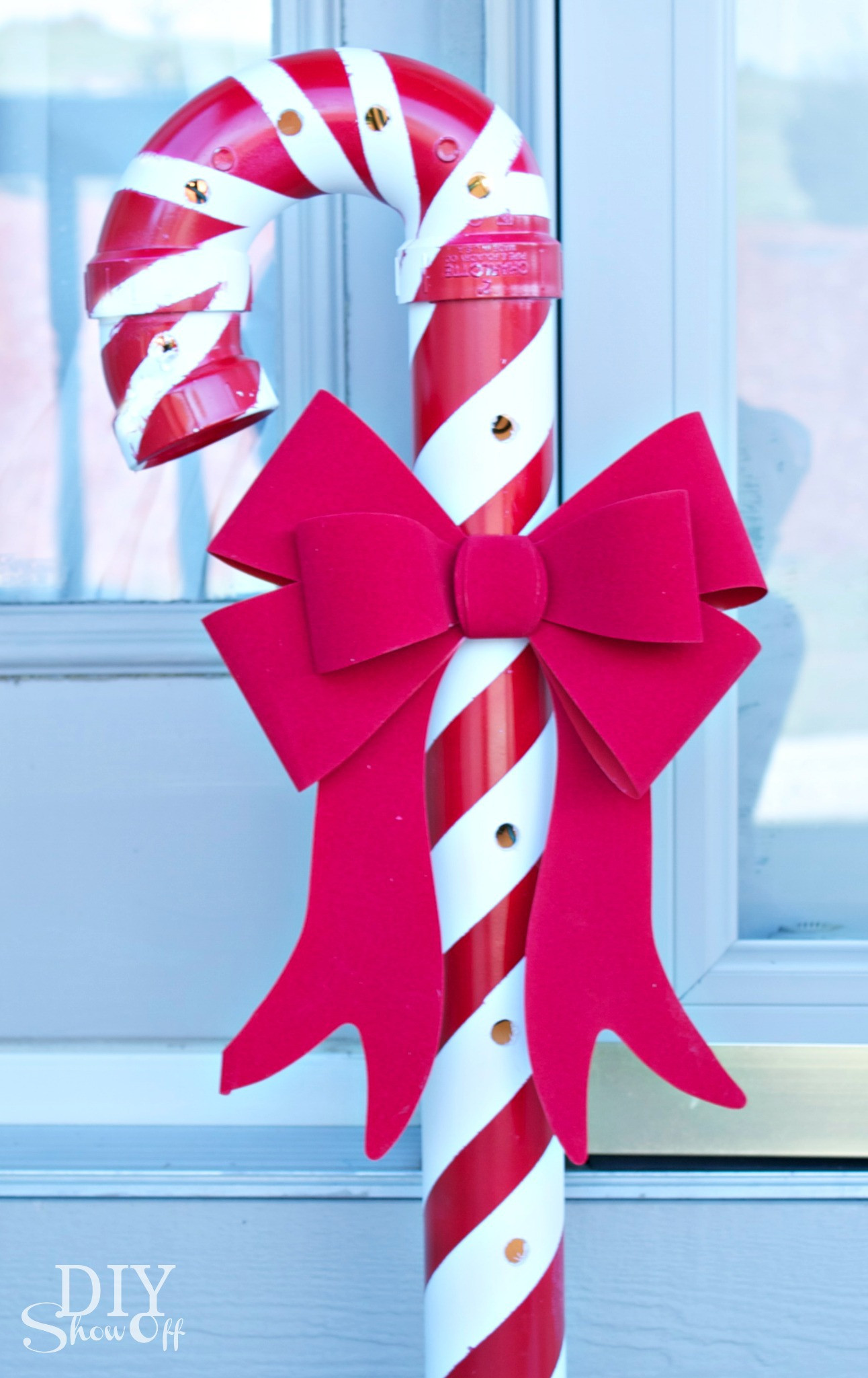 Candy Christmas Lights  Lighted PVC Candy Canes DIY Christmas Home Decor DIY