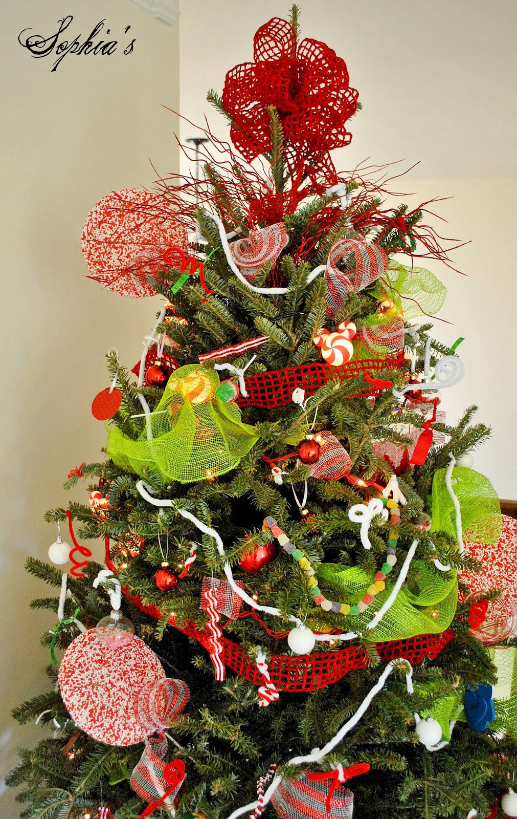Candy Christmas Tree Decorations  Sophia s Kid s Candy Tree & DIY Sprinkles Ornaments