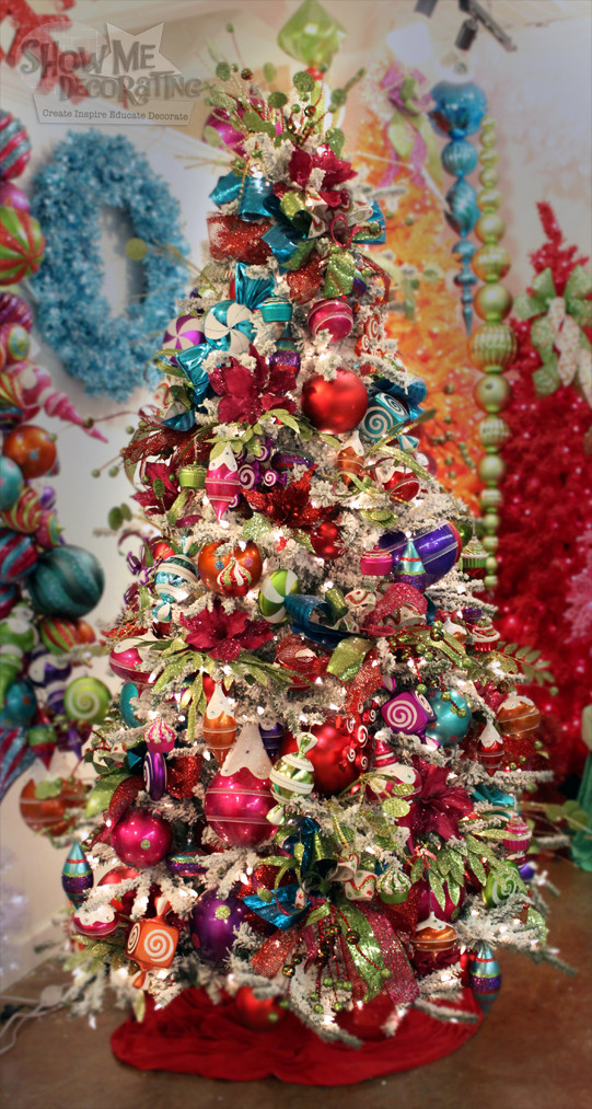 Candy Christmas Tree Decorations  Show Me Decorating