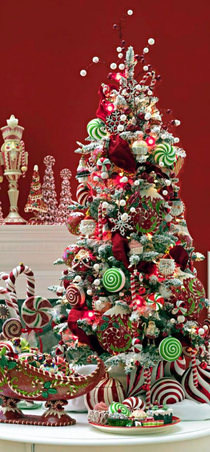 Candy Christmas Tree Decorations  Whimsical Christmas Trees