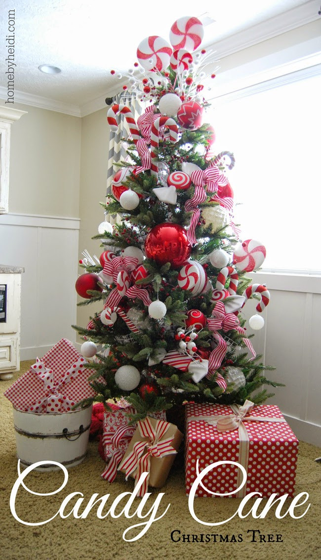 Candy Christmas Tree  Home By Heidi Candy Cane Christmas Tree