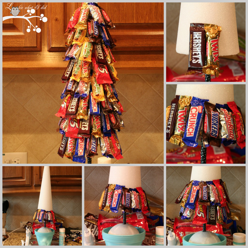 Candy Christmas Tree  Lookie What I Did A Candy Topiary
