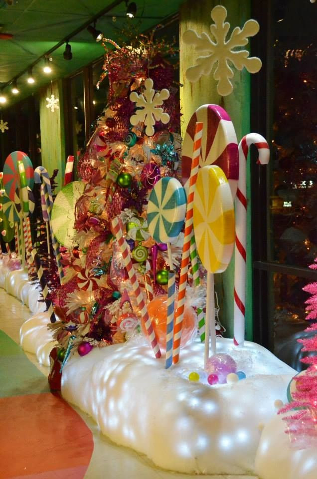 Candy Themed Christmas Decorations  Best 25 Candy land christmas ideas on Pinterest