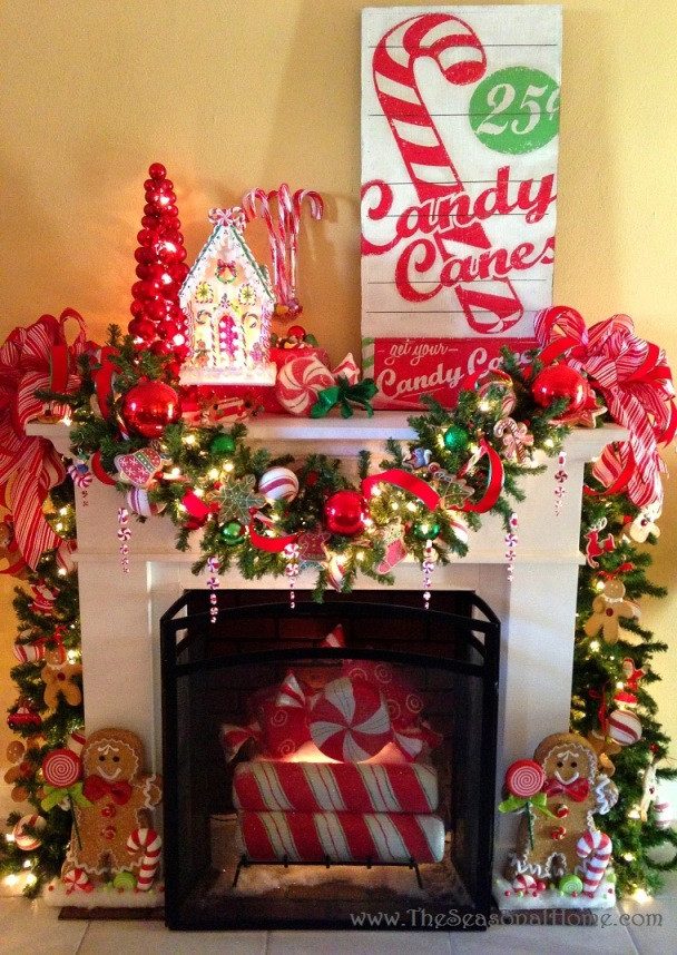 Candy Themed Christmas Decorations  Top Candy Cane Christmas Decorations Ideas Christmas
