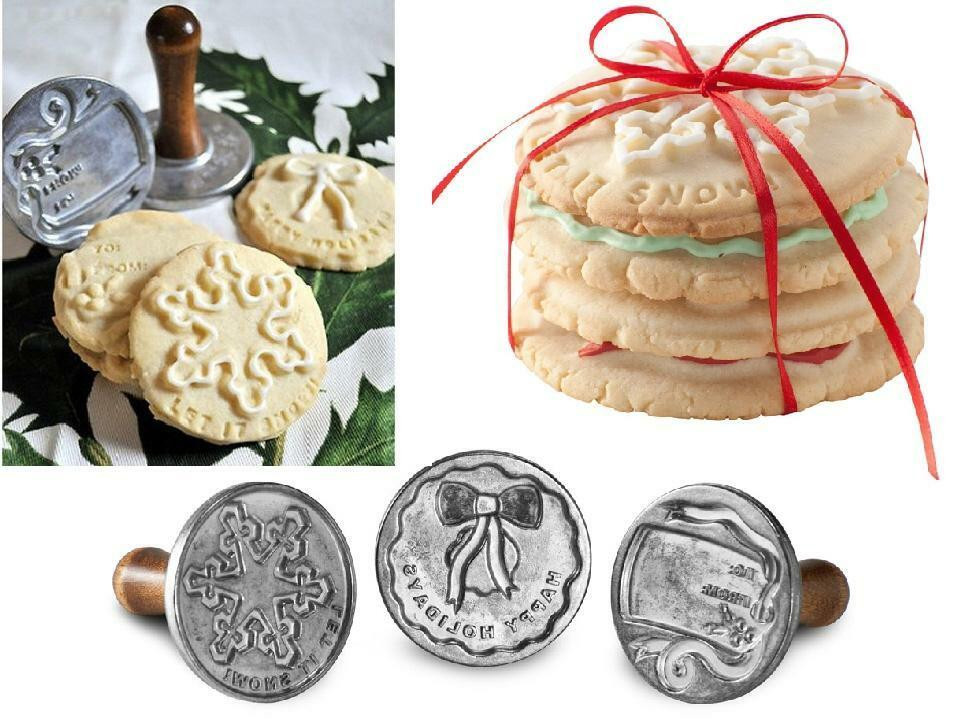 Cast Of Christmas Cookies  Nordic Ware HOLIDAY Winter 3 Christmas COOKIE STAMPS SET