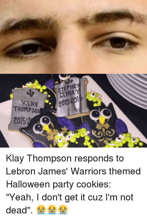 Cavs Halloween Cookies  Funny Klay Thompson Memes of 2016 on SIZZLE