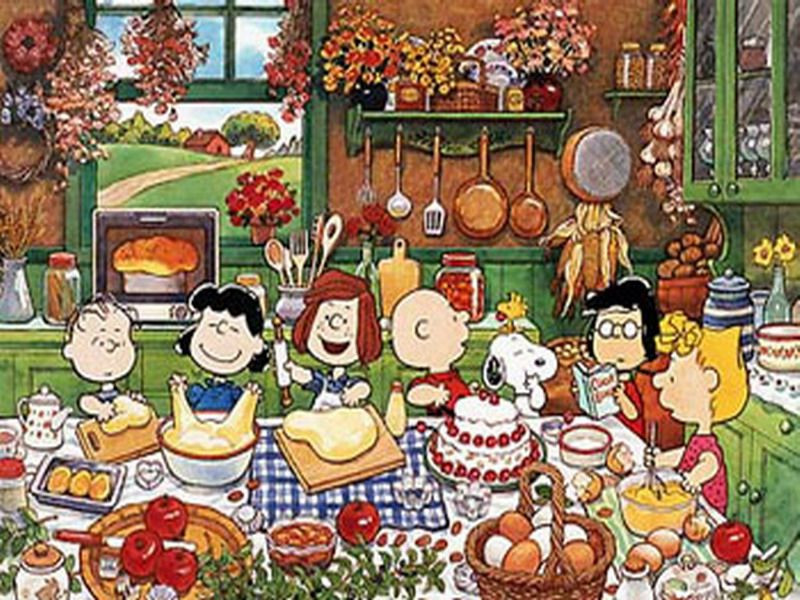 Charlie Brown Thanksgiving Dinner  Peanuts Baking Charles M Schulz Puzzle