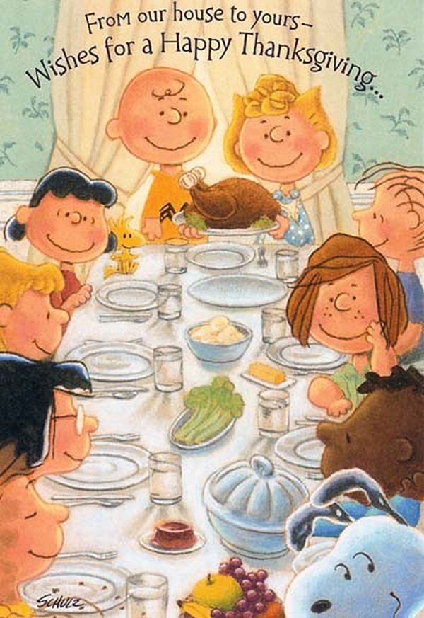 Charlie Brown Thanksgiving Dinner  The 37 best Paro s of Rockwell s Freedom from Want
