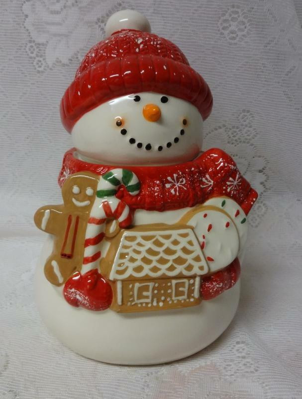 Cheryl'S Cookies Halloween  Signed Cheryl s Snowman Red Hat Scarf Mittens Gingerbread